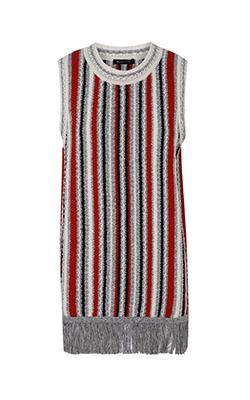 שמלה עם הדפס פסים