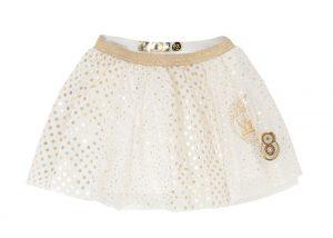 """חצאית לבנה במבצע. DESIGUAL KIDS (צילום: יח""""צ חו""""ל)"""