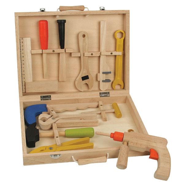 הבנאים הקטנים: ערכת כלי עבודה מעץ. ברשת עצמל'ה. צילום: ישראל כהן