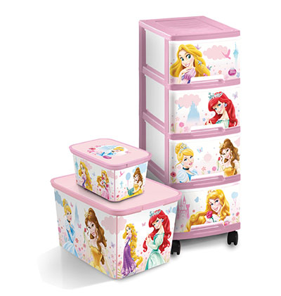 קופסאות אחסון, נסיכות, כתר