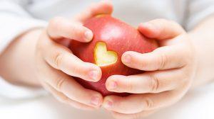 תפוח, לב, ילד