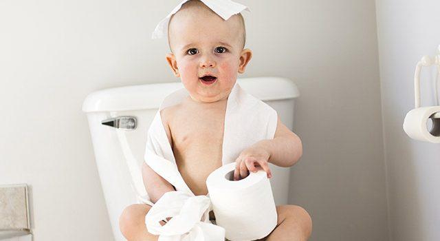 תינוק, שירותים, שלשול