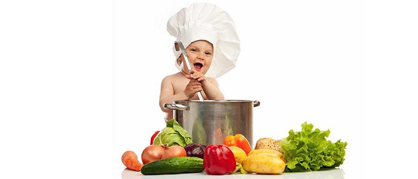 תינוק, ירקות, מרק