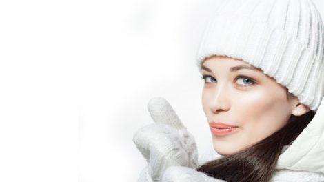 אישה בחורף